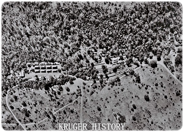Aerial image showing terraces and facilities - taken in 1948